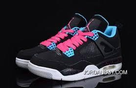 Jordan Retro Chart Clearance Nike Air Jordan 4 Iv Retro Women Shoes Black Blue Shoes