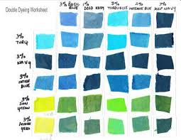 Beths Blog Procion Mx Dyes Overdyeing Blue Yellow And