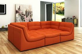 orange sectional sofa striking photos ideas modern bonded leather burnt with chaise n81