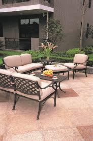 newport by hanamint 6 piece luxury cast aluminum patio furniture deep seating set