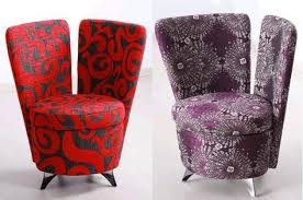 purple accent furniture. Two Cute Accent Sofas In Red And Purple Eye Catching Colorful Chairs Recliners Furniture