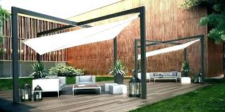 retractable sun shade for patio fabric pergola cover pertaining to