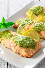 Just remove the salmon from the oven and make sure it reaches the internal temperature of 145ºf. Pesto Salmon Video Simply Home Cooked