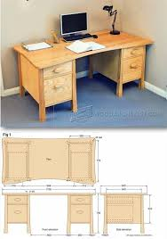twin pedestal desk plans furniture plans and projects woodarchivist com