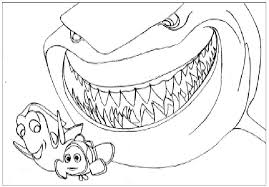 Bruce The Shark Finding Nemo Coloring Pages Disney Finding Nemo