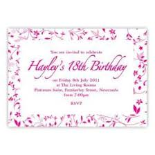 How To Create Birthday Invitation Cards 274223550007 Free 18th