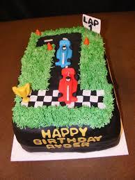 First Birthday Car Race Cake Cakecentralcom