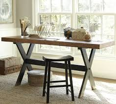 image of sawhorse desk for study