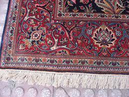 kashan rug fringe at front