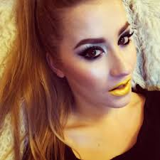 playing with makeup yellow lips created using mac s chromaline pot in