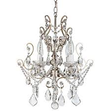 swag lights that plug into the wall fresh theresa vintage silver crystal chandelier mini plug in