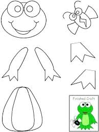 Frog Cut Out Template Frog Craft Template Frog Craft Template Frog
