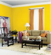 Yellow Paint For Living Room Modern Living Room Interior Decorating Ideas With Yellow Color