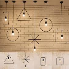 Geometric Pendant Light E27 Geometric Hanging Light Industrial Ceiling Pendant Lamp Lampshade Fixture