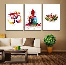 Wall Art Ideas Design : Popular Items Buddha Wall Art Canvas Watercolor  Modern Symbol Home Decors Living Room Handpainted Artistic Best Buddha Wall  Art ...