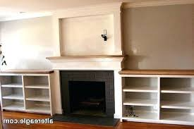 fireplace side decor wall ideas shelves custom mantels surrounds and decorating charming