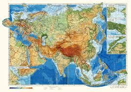 Евразия Физическая карта Евразии