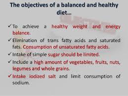 Balanced Diet Chart Ppt Presentation On Balanced Diet