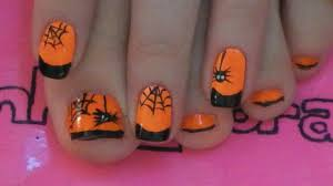 Spider and Web Toe Nail Art Tutorial For Halloween - YouTube