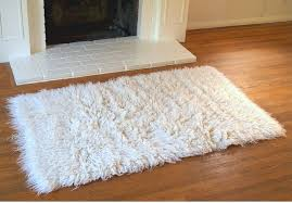 original new zealand wool flokati rug natural 60x110cm rugs more