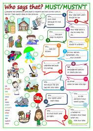 modal verbs must or mustn t