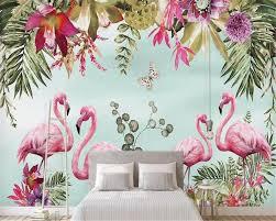 Goede Koop Beibehang Behang Handgeschilderde Tropische Rainforest