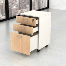 mfc laminated wooden computer office table desk with mobile cabinet