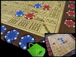 Wooden Sequence Board Game Dice Poker Love this strategy game Beautifully handcrafted with 35