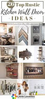 Hang a gallery wall of thrift store finds, cover the walls in patterned paper, or put antiques collections on display—there are countless ways to show off your personality and bring a boring living room to life. 26 Top Rustic Kitchen Wall Decor Ideas That You Can Make In 2021