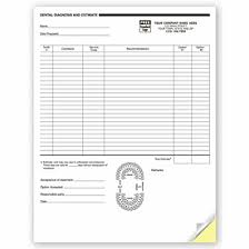 Medical Forms - 2 Part Dental Diagnosis And Estimate Forms - 4053 By ...