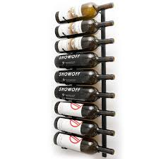 Wall wine racks Modern Wine Enthusiast Vintageview Wall Series Magnum Wine Rack 9 Bottle Wine Enthusiast