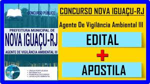 Edital Concurso NOVA IGUAÇU - RJ 2016 Apostila Para Agente De Vigilância  Ambiental III on Vimeo