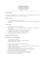 Executive Career Objective And Summary And Key Strengths Dental