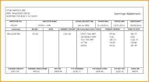 Check Stub Template Free Download Payroll Pay Stub Template Payroll Check Stub Template Free Download