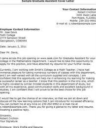 sample cover letter for graduate teaching assistant job sample cover letter for graduate assistantship