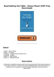 read setting the table danny meyer pdf free