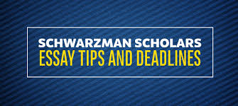 tips for creating successful schwarzman scholars application essay