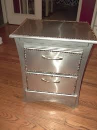 black and silver bedroom furniture. Wood And Metal Nightstand Brushed Nightstands With Drawers Circle Brown Black Glass Locker Bedside Table Industrial Silver Bedroom Furniture
