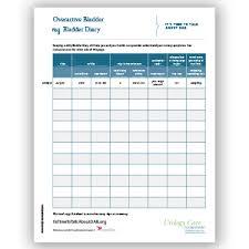 Bladder Chart Diaries Bladder Diary Urology Care Foundation