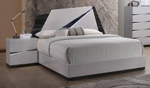 global furniture scarlett modern white gloss finish king bedroom set 3 pcs order
