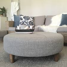 round fabric ottoman. Perfect Ottoman Round Fabric Ottoman Coffee Table Photo  1 On H