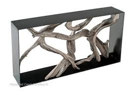 contemporary sofa tables. Modern Driftwood Console Table Contemporary Sofa Tables T