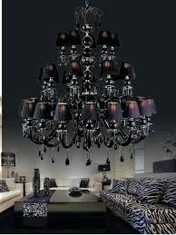 black crystal chandelier material painted alloy glass arms deluxe crystals fabric lampshades size dimension arms 3
