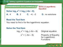 example 2 solve log 4 x 2 log 4 6x 8