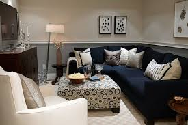 Modular Living Room Designs Gray And White Themed Navy Living Room Ideas With Modular Black L