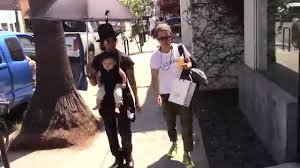 Sara Gilbert and wife Linda Perry spotted out shopping with son Rhodes  Emilio Gilbert Perry - YouTube