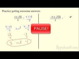 quadratic formula 12 4 flippedmath