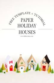 paper holiday houses templates paper holiday houses templates com
