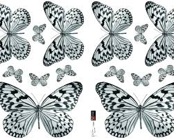 Black And White Butterfly Sticker ...
