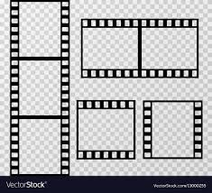 Film Strip Photo Frame Template Isolated On